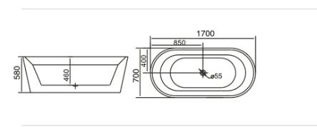 Bồn tắm TDO T-5045