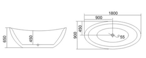 Bồn tắm TDO T-5025