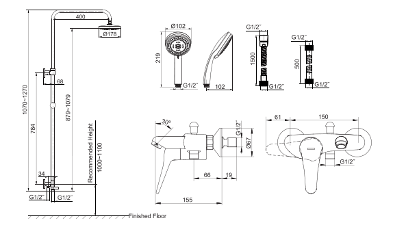 Sen cây Kohler K-72704T-C4-CP hai chiều