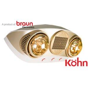 Đèn sưởi nhà tắm Braun Kohn KU02PG