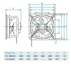 Quạt hút công nghiệp Panasonic FV-40GS4 (Lỗ chờ 44.5×44.5)