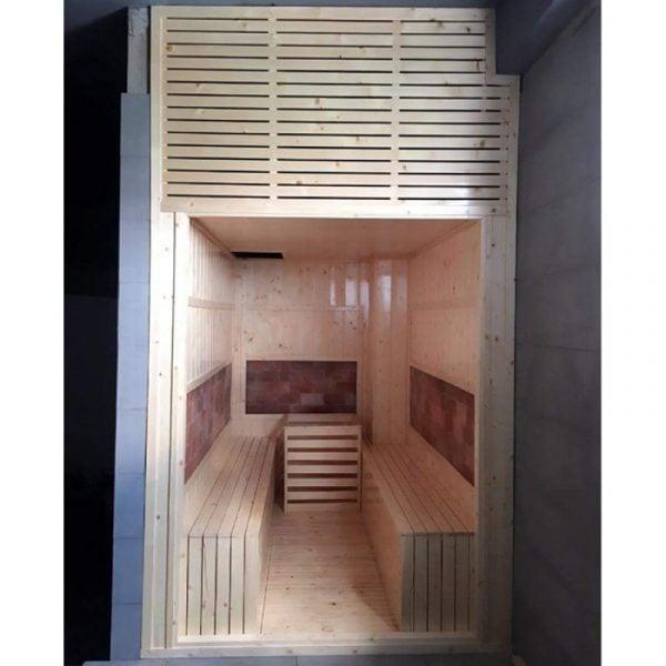 Các phụ kiện mang lại không gian sang trọng và hiện đại cho phòng xông hơi