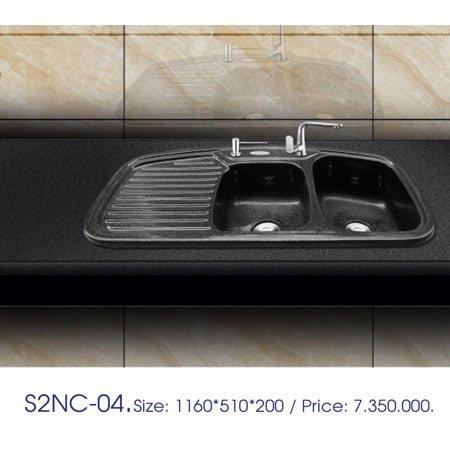 Chậu rửa bát Việt Mỹ S2NC-04 đá nhân tạo