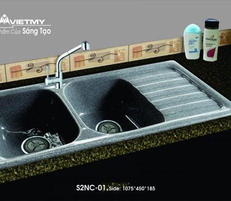 Chậu rửa bát Việt Mỹ SG2NC đá nhân tạo