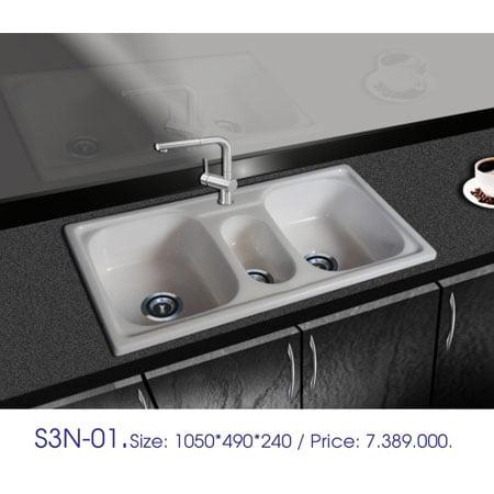 Chậu rửa bát Việt Mỹ S3N-01 đá nhân tạo