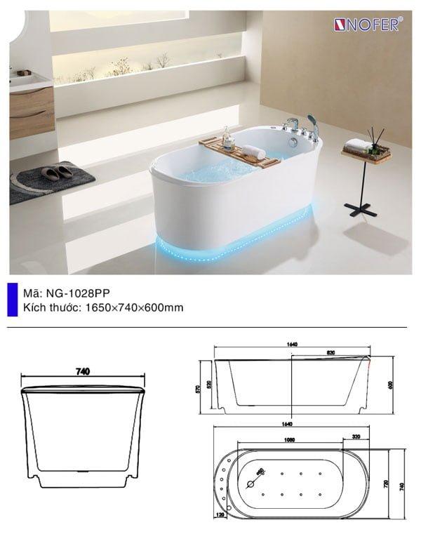 Bồn tắm Nofer NG-1028/ 1028 Plus