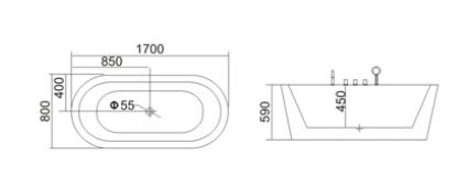 Bồn tắm TDO T-5057