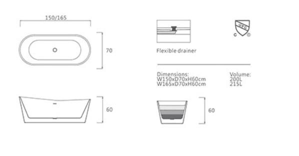 Bồn tắm ngâm Euroking EU-6025