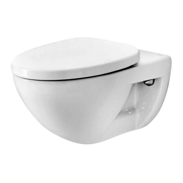 Không gian nhà tắm sang trọng với bồn cầu âm tường