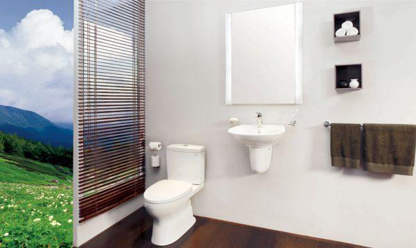 Bồn cầu nhà vệ sinh được làm bằng nguyên liệu cao cấp