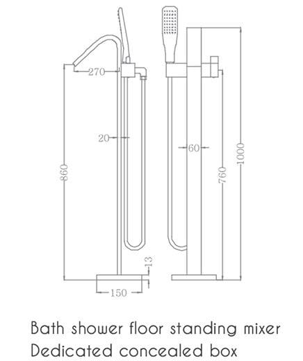 Sen tắm đặt sàn Euroking EU-61001-1A