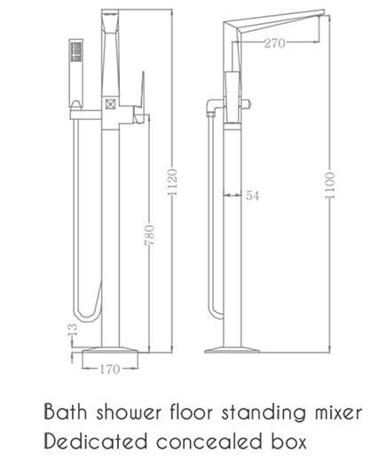 Sen tắm đặt sàn Euroking EU-81008