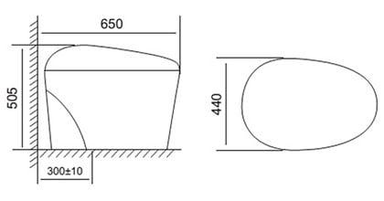Bồn cầu cảm ứng Viglacera V-SMART V95