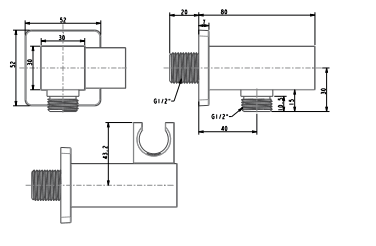 Gác sen vuông American FFAS9143