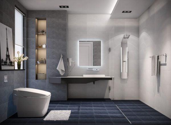 Lựa chọn bồn cầu phù hợp với diện tích của phòng tắm để mang đến sự rộng rãi thoải mái khi sử dụng