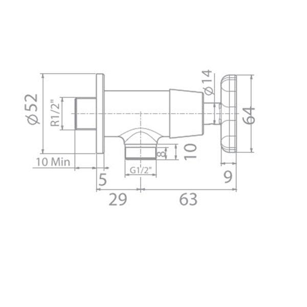 Vòi sen lạnh American WF-T704