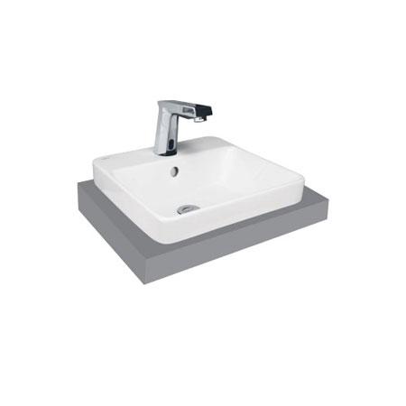 Chậu rửa lavabo Viglacera V24 đặt trên bàn