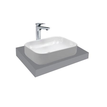 Chậu rửa lavabo Viglacera V25 đặt trên bàn
