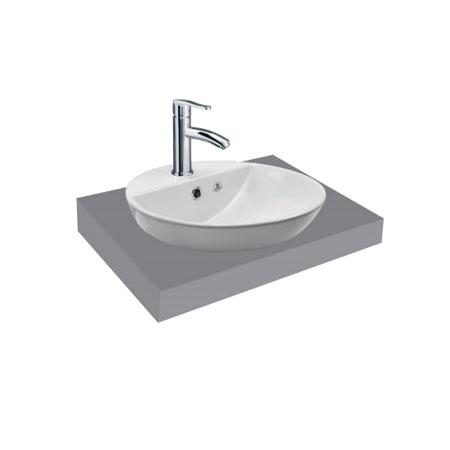Chậu rửa lavabo Viglacera V26 đặt trên bàn