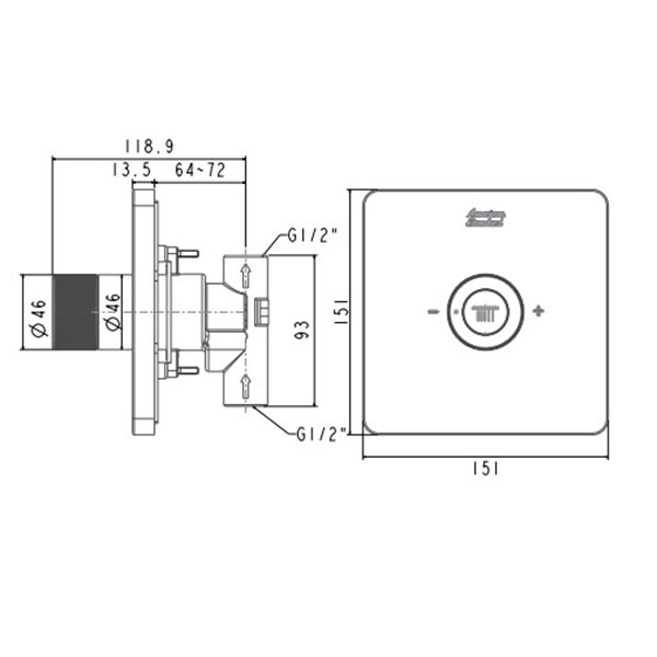 Nút điều chỉnh sen tắm American FFAS0926