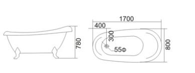 Bồn tắm TDO T-5066