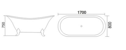 Bản vẽ Bồn tắm TDO T-5082