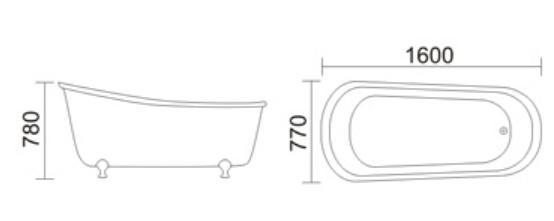 Bồn tắm TDO T-5077
