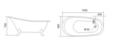 Bồn tắm TDO T-5080