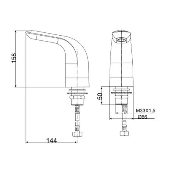 Vòi cảm ứng AMERICAN WF-8831