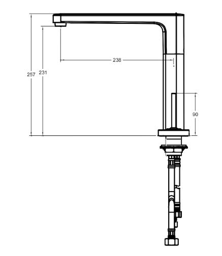Vòi chậu lavabo American A-1375 nóng lạnh