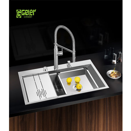 Chậu rửa bát Geler GL-8550 có máy rửa chén cốc