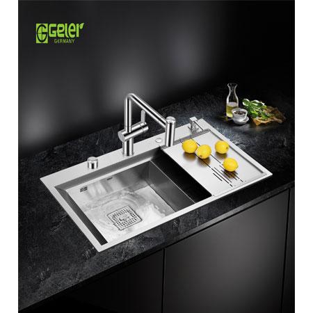 Chậu rửa bát Geler GL-8650 có máy rửa chén cốc