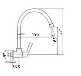 Vòi rửa bát American WF-T607 lạnh