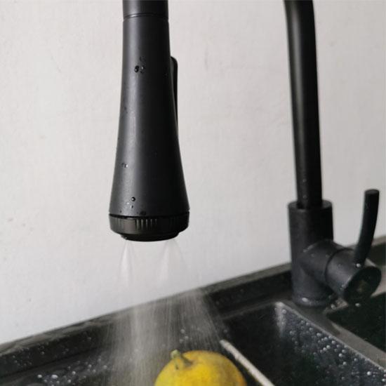 Vòi rửa bát Moonoah MN-603D nóng lạnh đen