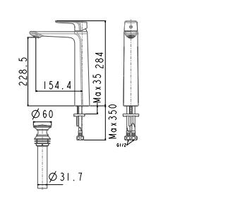 Vòi rửa lavabo American WF-1702 cổ cao