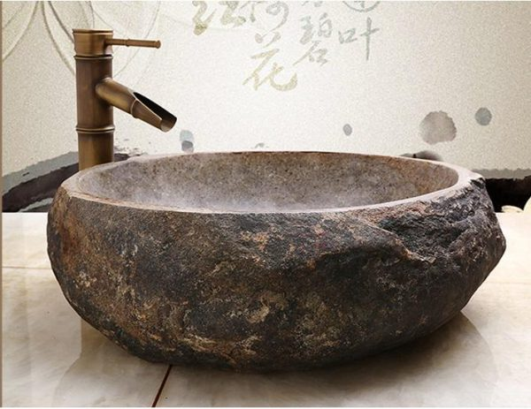 Thiết kế đẹp - độc - lạ của chậu rửa mặt có mặt bằng đá