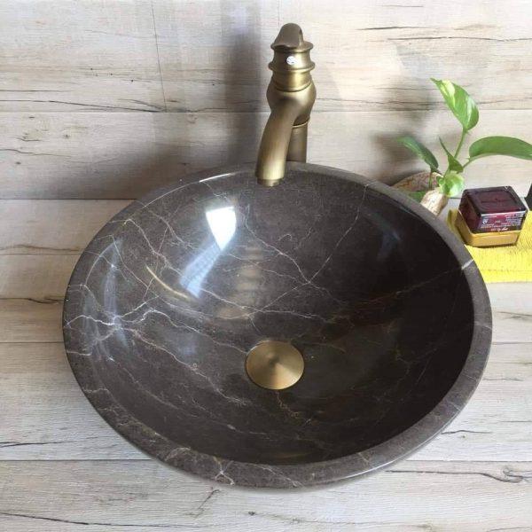 Chậu rửa mặt lavabo làm bằng đá có nhiều kiểu dáng khác nhau
