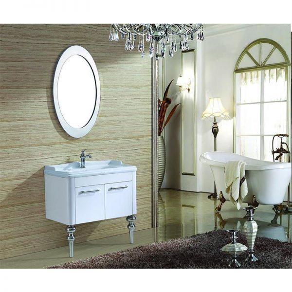 Tủ chậu cho nhà tắm bằng chất liệu inox