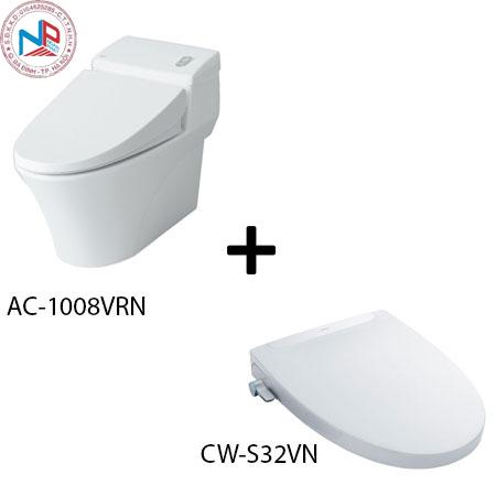 Bồn cầu Inax AC-1008R kèm nắp rửa thông minh CW-S32VN