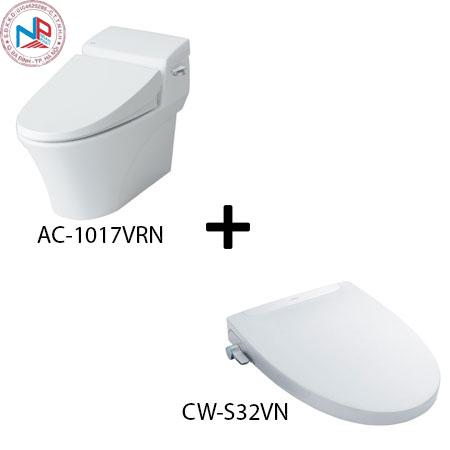 Bồn cầu Inax AC-1017R kèm nắp rửa thông minh CW-S32VN