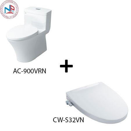 Bồn cầu Inax AC-900VRN kèm nắp rửa thông minh CW-S32VN