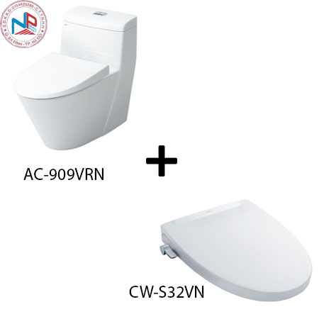 Bồn cầu Inax AC-909R kèm nắp rửa thông minh CW-S32VN