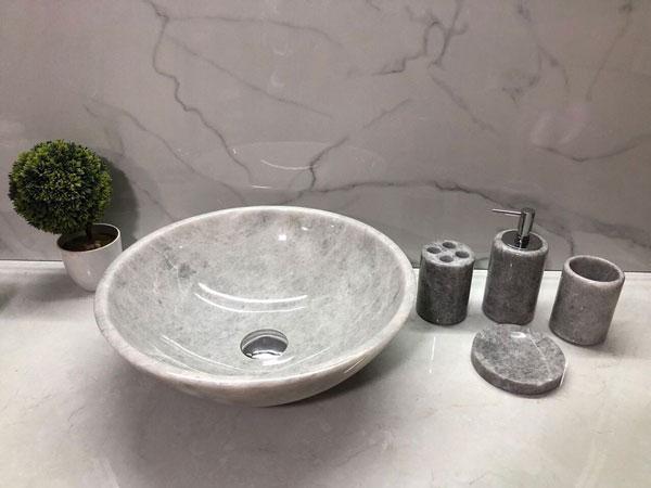 Chậu rửa lavabo Eximstone BST37 đá tự nhiên