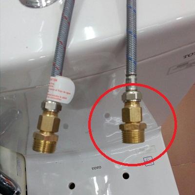 Kép đồng nối dây cấp vòi nhập khẩu KD 005