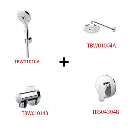 Sen tắm âm tường ToTo TBS04304B kèm phụ kiện 3 món