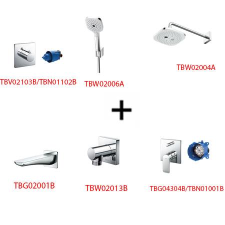 Sen tắm âm tường ToTo TBG04304B kèm phụ kiện 6 món