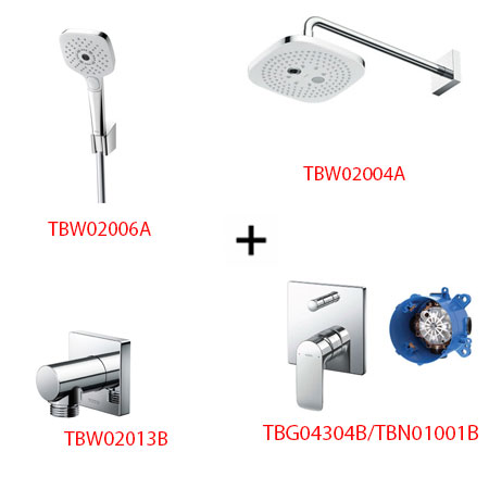 Sen tắm âm tường ToTo TBG04304B kèm phụ kiện 3 món