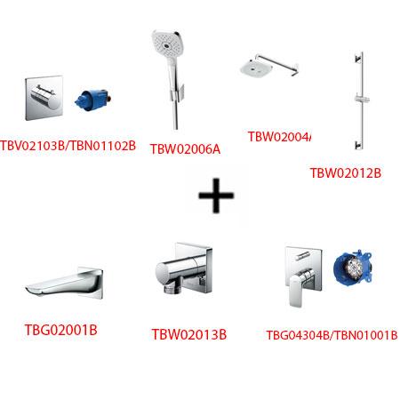 Sen tắm âm tường ToTo TBG04304B kèm phụ kiện 7 món