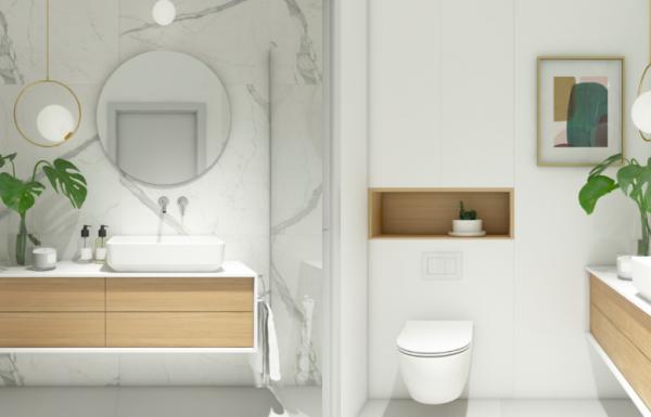 Trang trí tủ gương trong nhà tắm sẽ mang nét đẹp hài hòa và cân đối