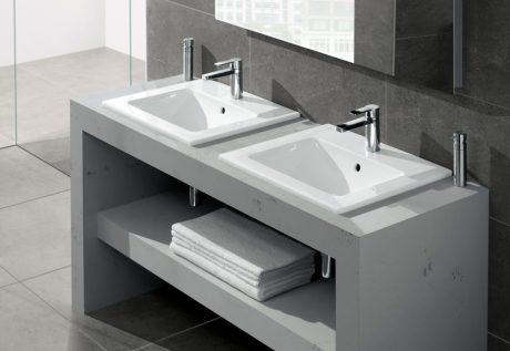 Những lợi ích của việc sử dụng chậu rửa mặt có tủ âm bàn Lavabo Hafele
